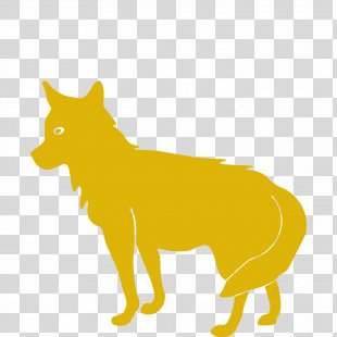 Coyote Siberian Husky Drawing - Silhouette PNG