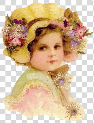 Vintage Clothing Floral Design Painting - Vintage PNG