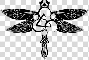 Tattoo Drawing Symbol Stencil - Dragonfly PNG