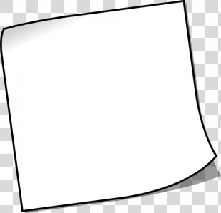 Black And White Line Art Post-it Note - Sticky Note PNG
