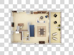 3D Floor Plan House - Plan View PNG