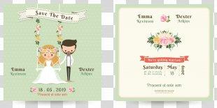 Wedding Invitation Bridegroom - Cartoon Wedding Invitation Design PNG