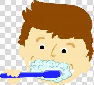 Tooth Brushing Toothbrush Clip Art - Teeth PNG