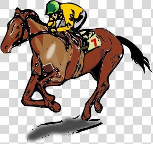 Horse Racing Jockey Clip Art - Horse PNG