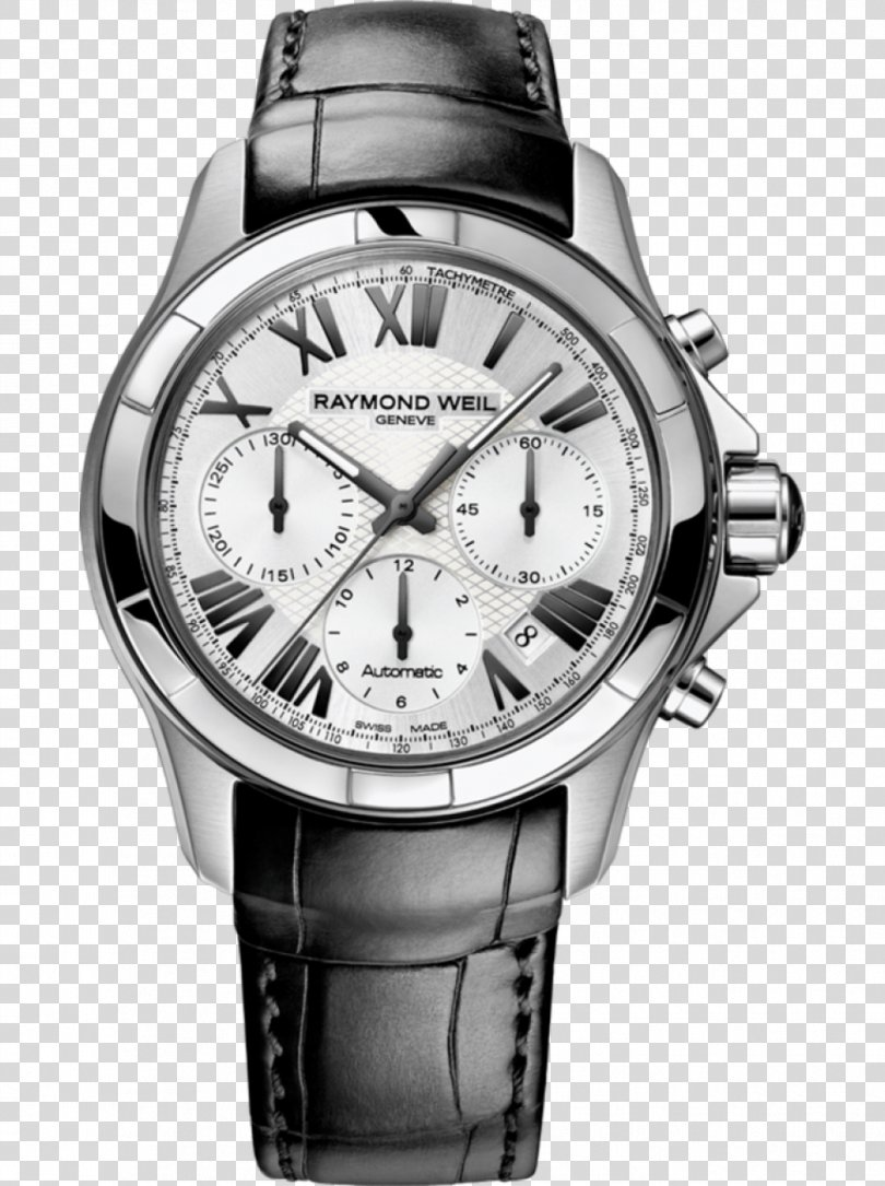 Raymond Weil Automatic Watch Chronograph Clock, Watch PNG