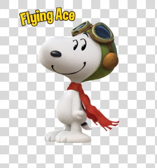 Snoopy Flying Ace Charlie Brown Woodstock Peanuts - Snoopy Flying Ace Movie PNG