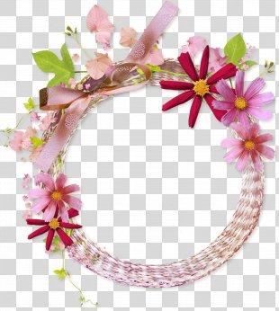 Picture Frames Flower Clip Art - Flower Border PNG