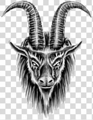 Goat Sleeve Tattoo Drawing Flash - Tattoo KEY PNG