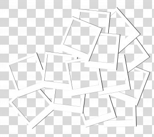 Paper Triangle Black And White Pattern - White Frame Geometry PNG