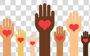 Human Heart Background - Heart Gesture PNG