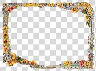 Picture Frames Flower Floral Design - Floral Border PNG