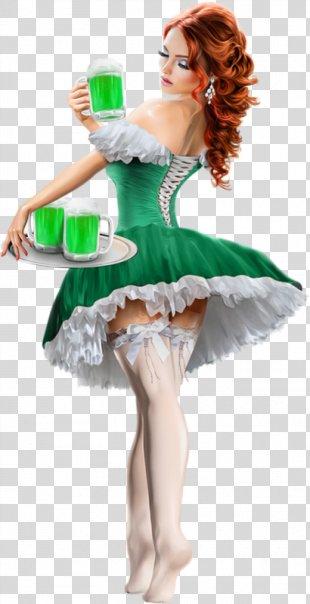 Saint Patrick's Day 17 March Woman Ireland - Saint Patrick's Day PNG