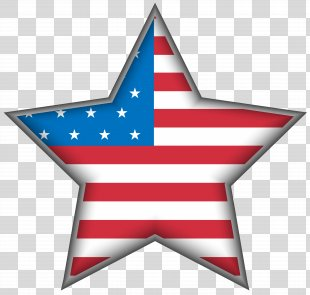 United States Independence Day Clip Art - USA Star Clip Art Image PNG