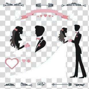 Wedding Invitation Bridegroom Illustration - Couple Wedding Couple PNG