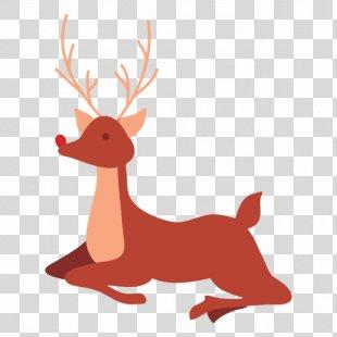 Reindeer Rudolph Drawing - Reindeer PNG