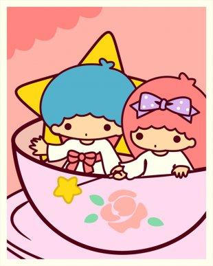 Little Twin Stars COLORING KIDS Desktop Wallpaper My Lovely Kitty Clip Art - Stars Graphics PNG