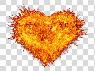 Fire Flame Combustion - Fire Heart PNG