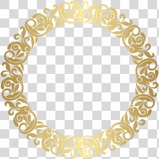 Gold Picture Frame Clip Art - Gold Round Border Frame Clip Art PNG