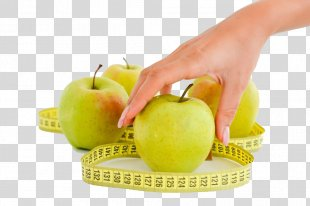Ruler Photography - Apple Ruler And Woman's Hand HD Buckle Material PNG
