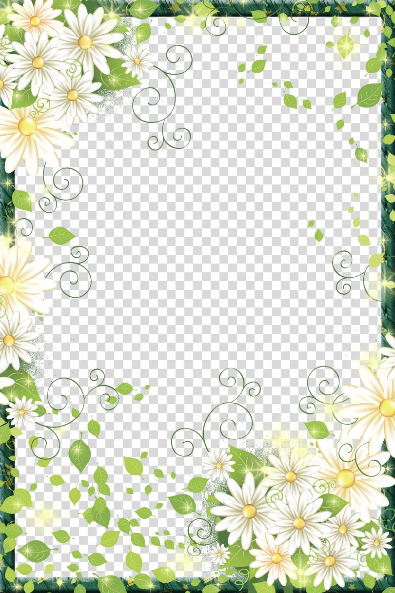 Flowers Picture Frame, Beautiful Flowers Border Frame PNG, Free Download