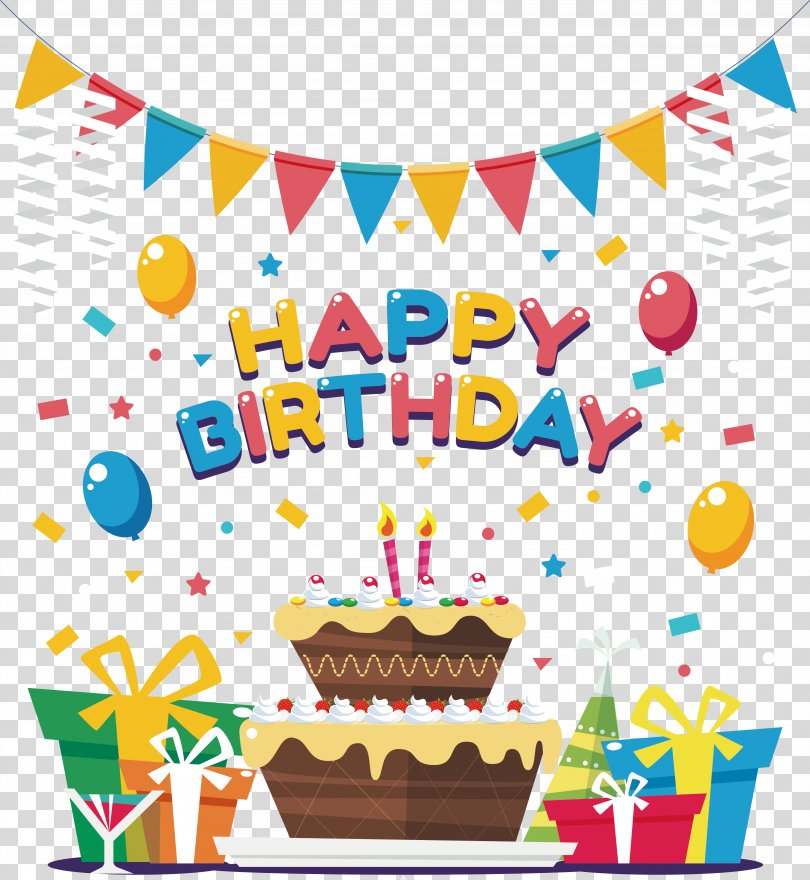 Birthday Cake Clip Art, Birthday Background Design PNG