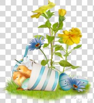 Easter Bunny Happy Easter! Easter Egg Easter Postcard - Happy Spring PNG
