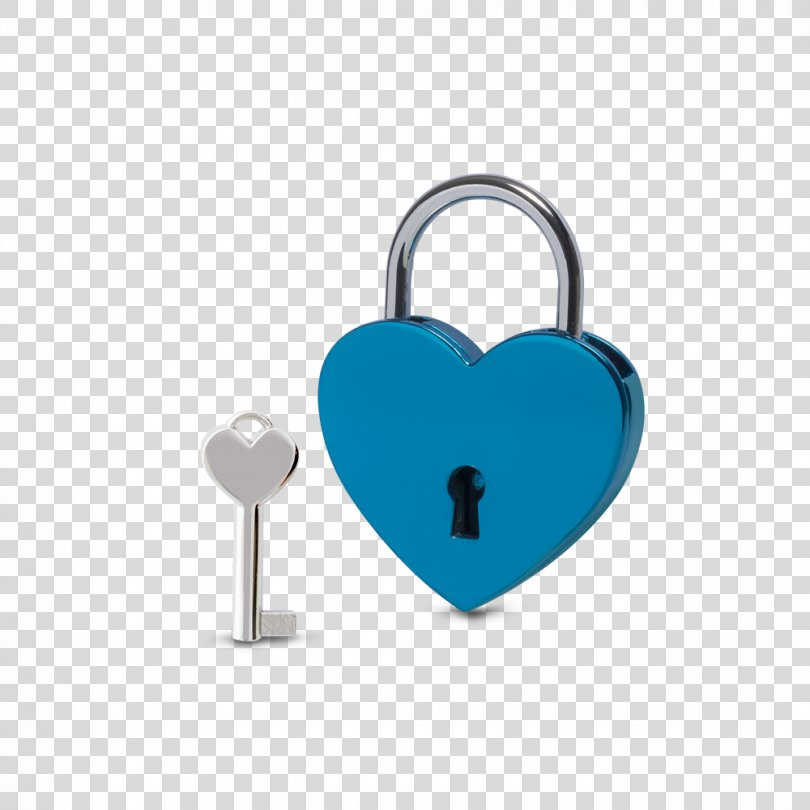 Love Lock Gift Blue Château, Lovers Hart PNG