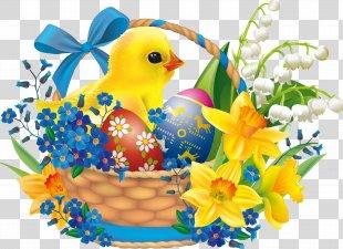 Easter Bunny Easter Basket Easter Egg - Easter PNG