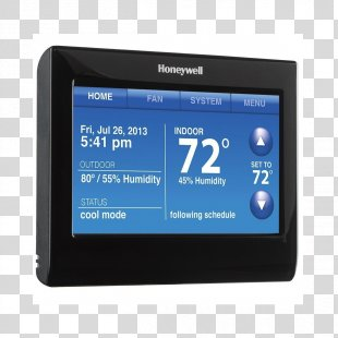 Smart Thermostat Programmable Thermostat Honeywell WiFi 9000 Honeywell Wi-Fi Smart RTH9580 - Free WiFi Zone PNG