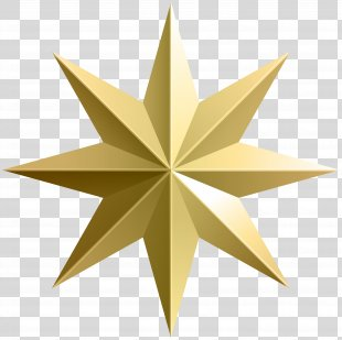 Clip Art - Gold Star Transparent Image PNG
