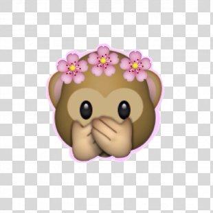 Emoji Wreath Sticker Monkey Flower - Emoji PNG