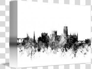 Skyline Durham Art Cityscape Printmaking - SKYLINE ENGLAND PNG