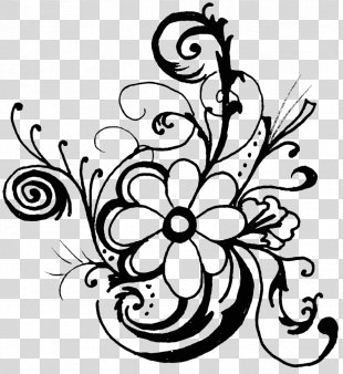 Flower Black And White Floral Design Clip Art - Flower Clip Art PNG