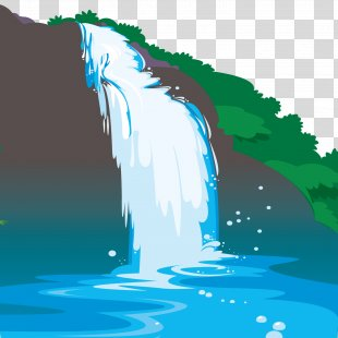 Waterfall Euclidean Vector - Nice Waterfall PNG
