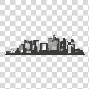 Los Angeles Skyline Silhouette - Skyline PNG