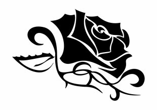 Tattoo Tribe Symbol Love Rose - Tribal Crown Tattoo PNG