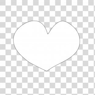 Heart Black And White Clip Art - White Heart PNG