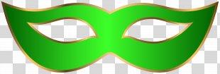 Green Glasses Smile Logo Clip Art - Green Carnival Mask Clip Art Transparent Image PNG