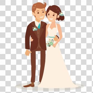 Wedding Invitation Bridegroom Illustration - Vector Loving Couple PNG