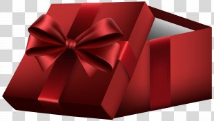 Gift Box Paper Clip Art - Red Open Gift Box Clip Art PNG