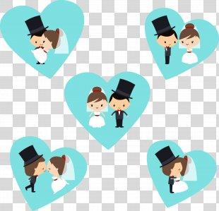 Wedding Invitation Bridegroom - Wedding Cartoon Renderings PNG