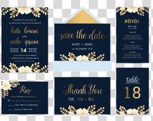 Wedding Invitation Flower Blue Illustration - Vector Wedding Invitation Posters Taiwan Card Design Material PNG