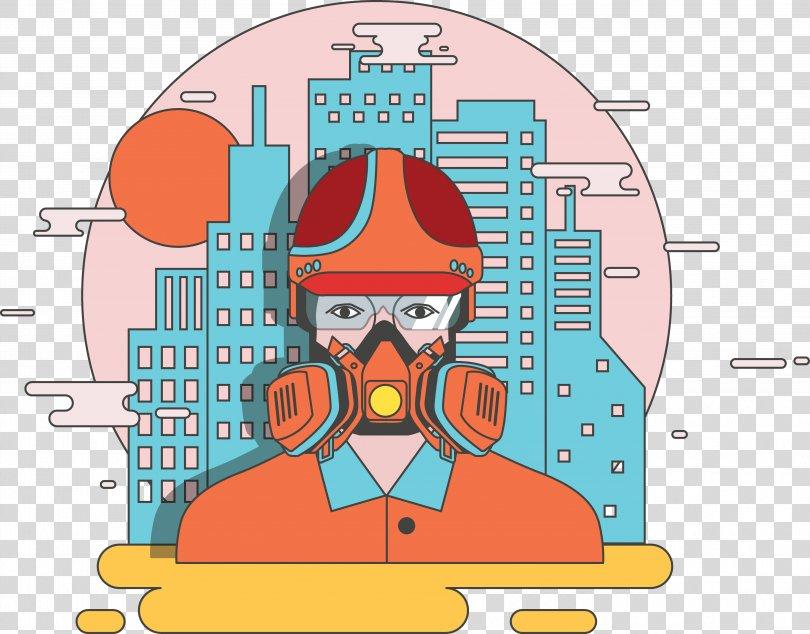 Breathing Oxygen Mask Illustration, Wear An Oxygen Mask Correctly PNG