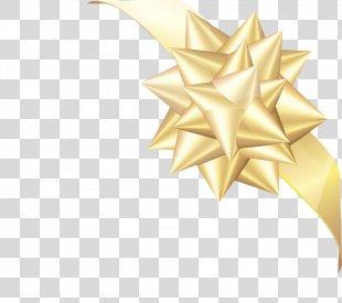 Ribbon Gold - Gold Ribbon PNG