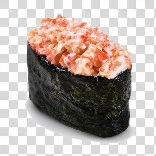 Sushi Crab Makizushi Smoked Salmon Japanese Cuisine - Sushi PNG