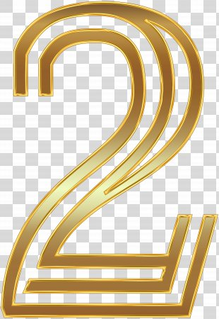 Wedding Invitation Paper Clip Art - Number Two Gold Clip Art Image PNG