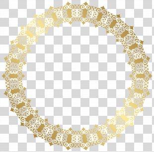 Gold Clip Art - Round Gold Border Transparent Clip Art Image PNG