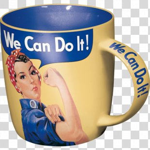 We Can Do It! Coffee Cup Bag Mug - We Can Do It PNG