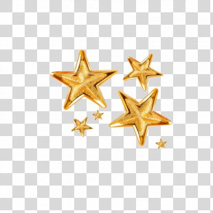 Gold Clip Art - Gold Five-pointed Star PNG