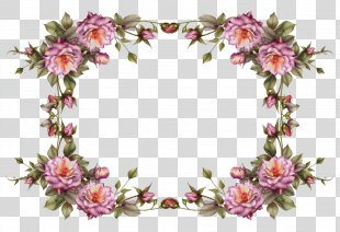 Borders And Frames Picture Frames Flower Clip Art - Watercolor Flower Border PNG